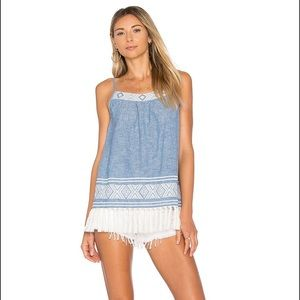 Soft Joie Agneza Embroidered Chambray Camisole
